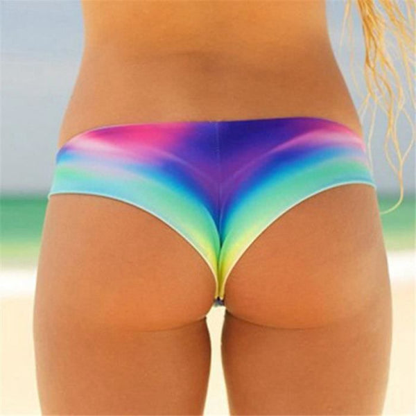 Color Gradient Low Rise Cheeky Bikini Bottom