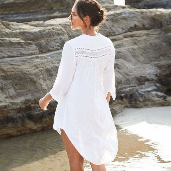 Oversized Half Sleeve Blouse Coverup