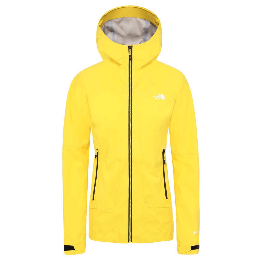 North Face WATERPROOF Jacket Women's Impendor GTX C-Knit Shell Vibrant Yellow