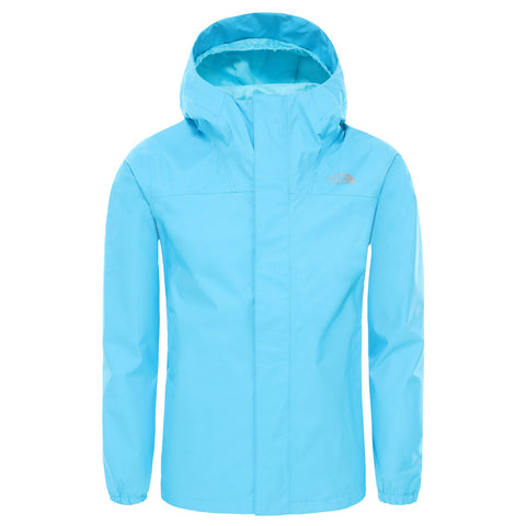 North Face WATERPROOF Jacket Girl's Reflective Resolve Acoustic Blue