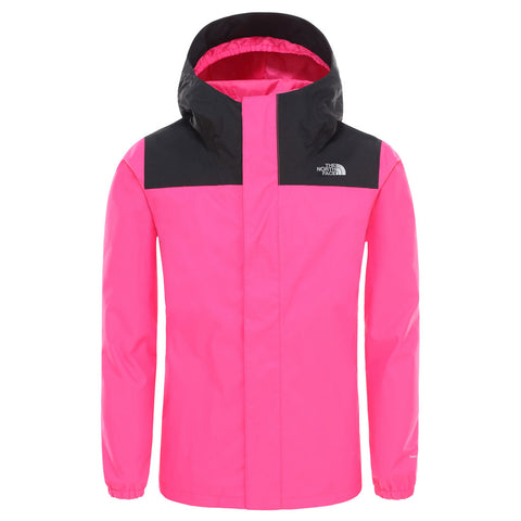 North Face WATERPROOF Jacket Girl's Reflective Resolve Rage Pink