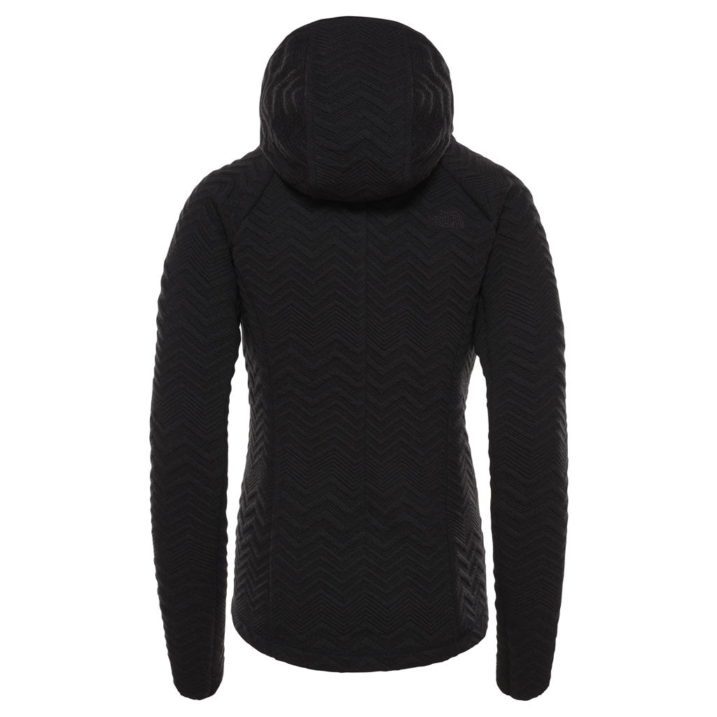 North Face FLEECE Top Women's Inlux Tech Midlayer TNF Black Heather