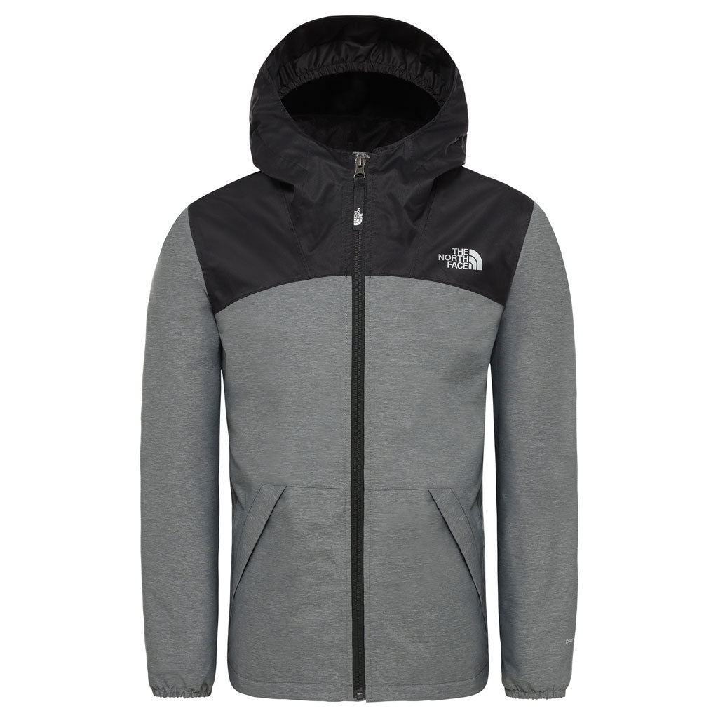 North Face INSULATED Jacket Girl's Warm Storm Medium Grey Heather