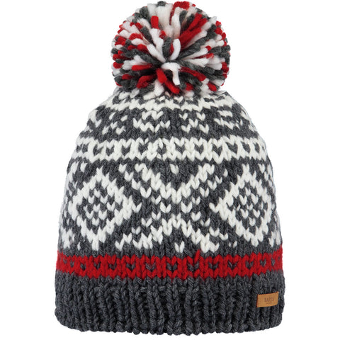 Barts Hat Men's Log Cabin Beanie Dark Heather