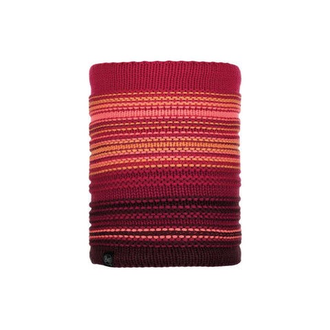 Buff Knitted & Polarfleece Neck Warmer Neper Bright Pink