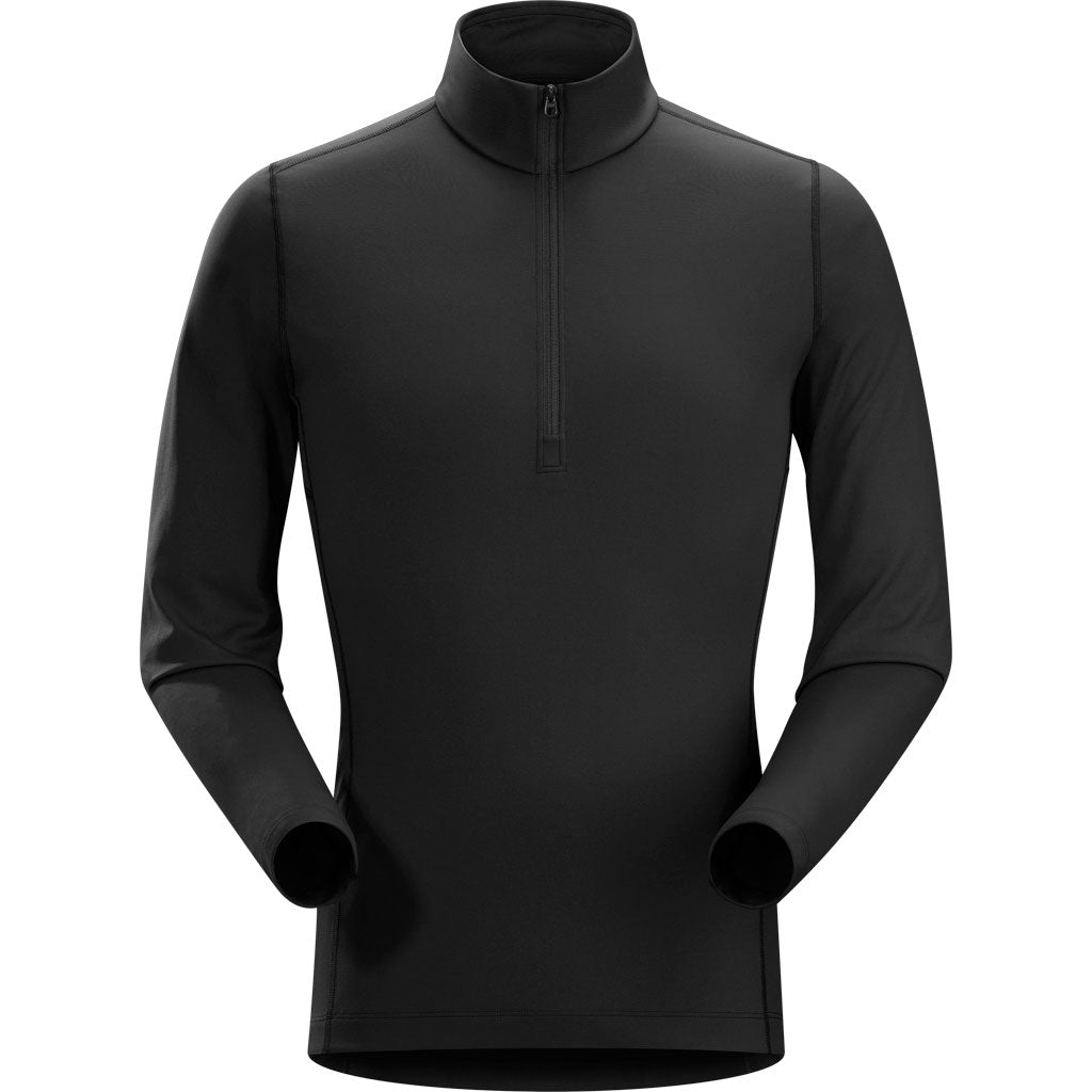 Arc'teryx BASE LAYER Top Men's Phase AR Zip Neck LS Black