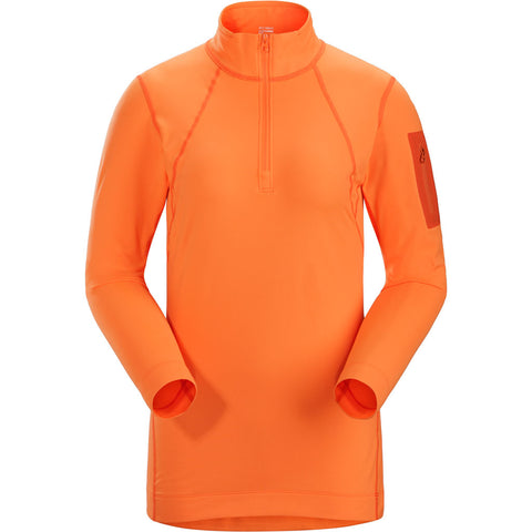Arc'teryx BASE LAYER Top Women's Rho LT Zip Neck Awestruck Orange
