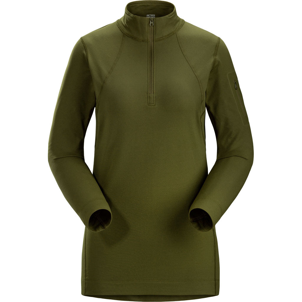 Arc'teryx BASE LAYER Top Women's Rho LT Zip Neck Bushwack