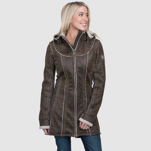 Kuhl Jacket Women's Dani Sherpa Trench Oak
