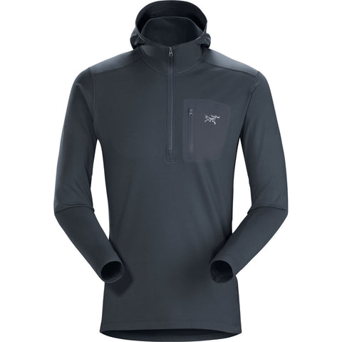 Arc'teryx BASE LAYER Top Men's Rho LT Hooded Zip Neck Orion