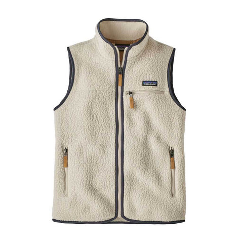 Patagonia FLEECE Top Women's Retro Pile Vest Pelican