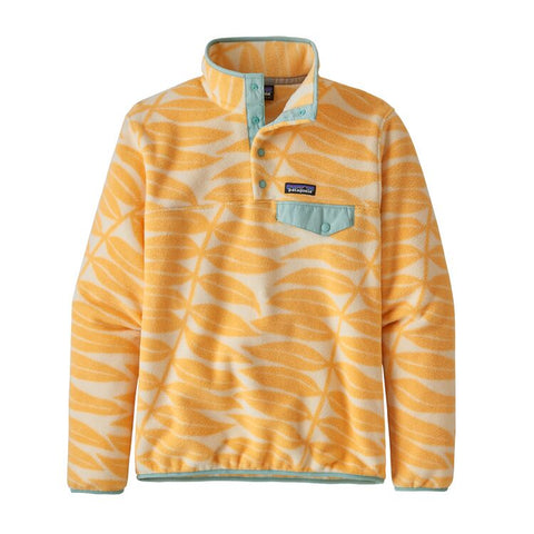 Patagonia Women's Lightweight Synchilla Snap-T Pullover - Eucalyptus Peach