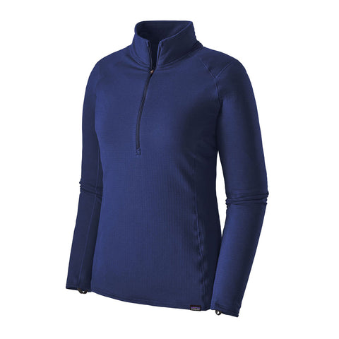 Patagonia BASE LAYER Top Women's Capilene Thermal Weight Zip Cobalt Blue/Navy