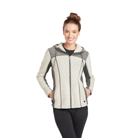 Kuhl FLEECE Jacket Women's Kozet Hoody FZ Natural