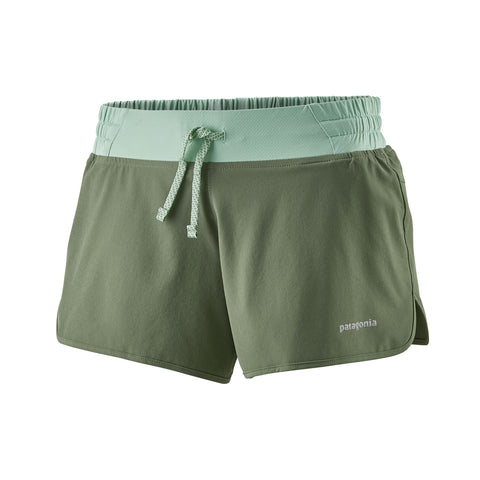 "Patagonia Women's Nine Trails Shorts 4"" - Green"