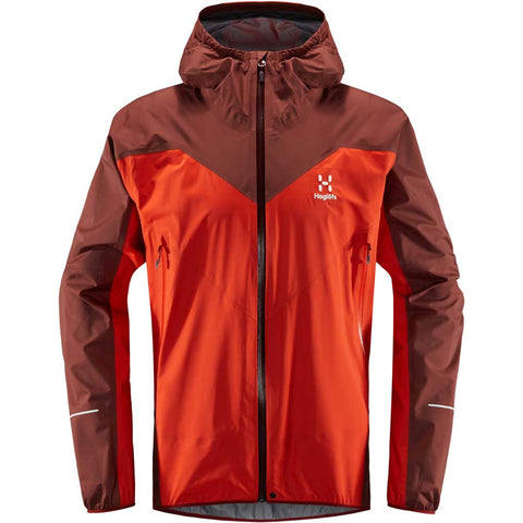 Haglofs WATERPROOF Jacket Men's LIM Comp Habanero/Maroon Red