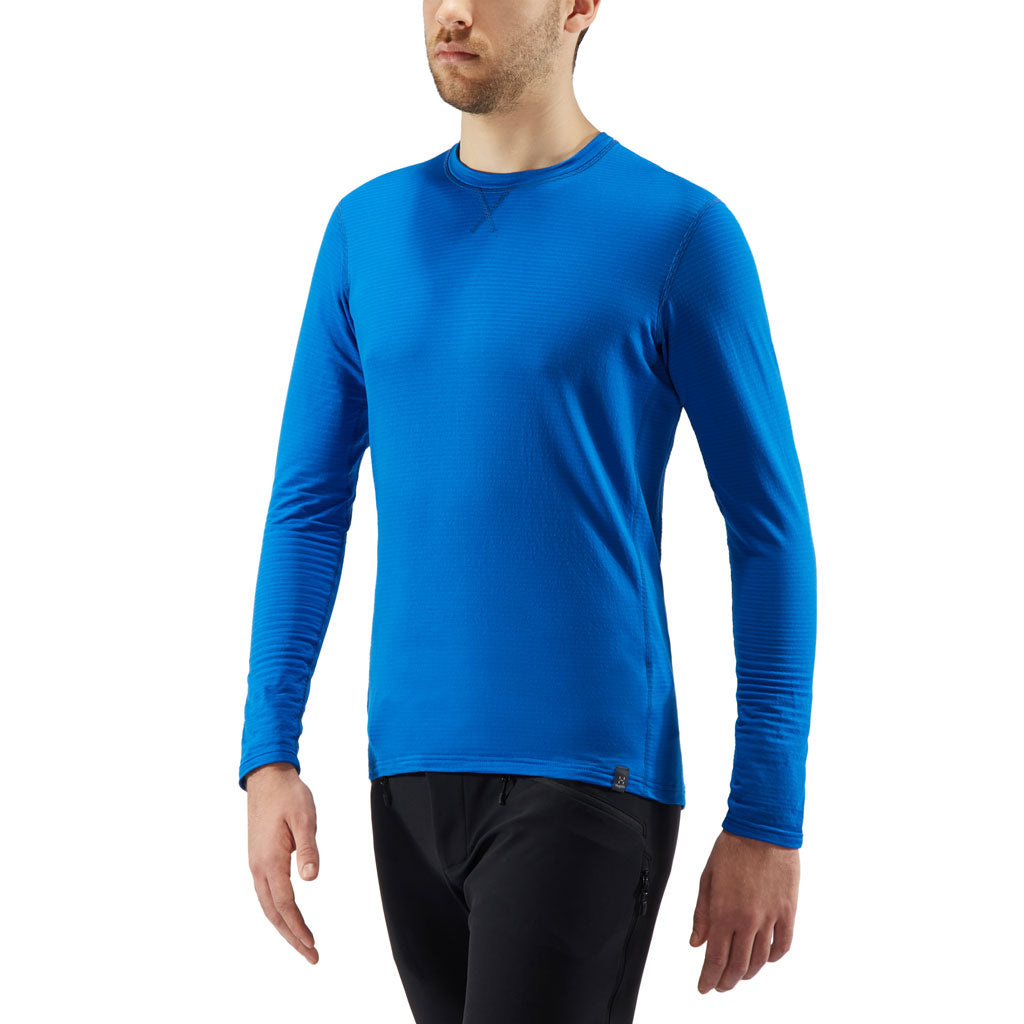 Haglofs BASE LAYER Top Men's LIM Mid Roundneck Storm Blue
