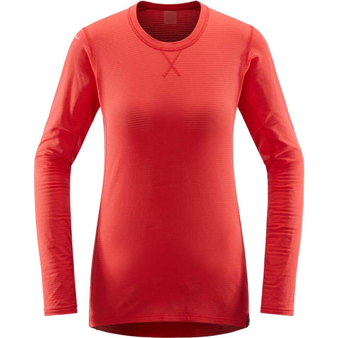 Haglofs BASE LAYER Top Women's LIM Mid Roundneck Hibiscus Red