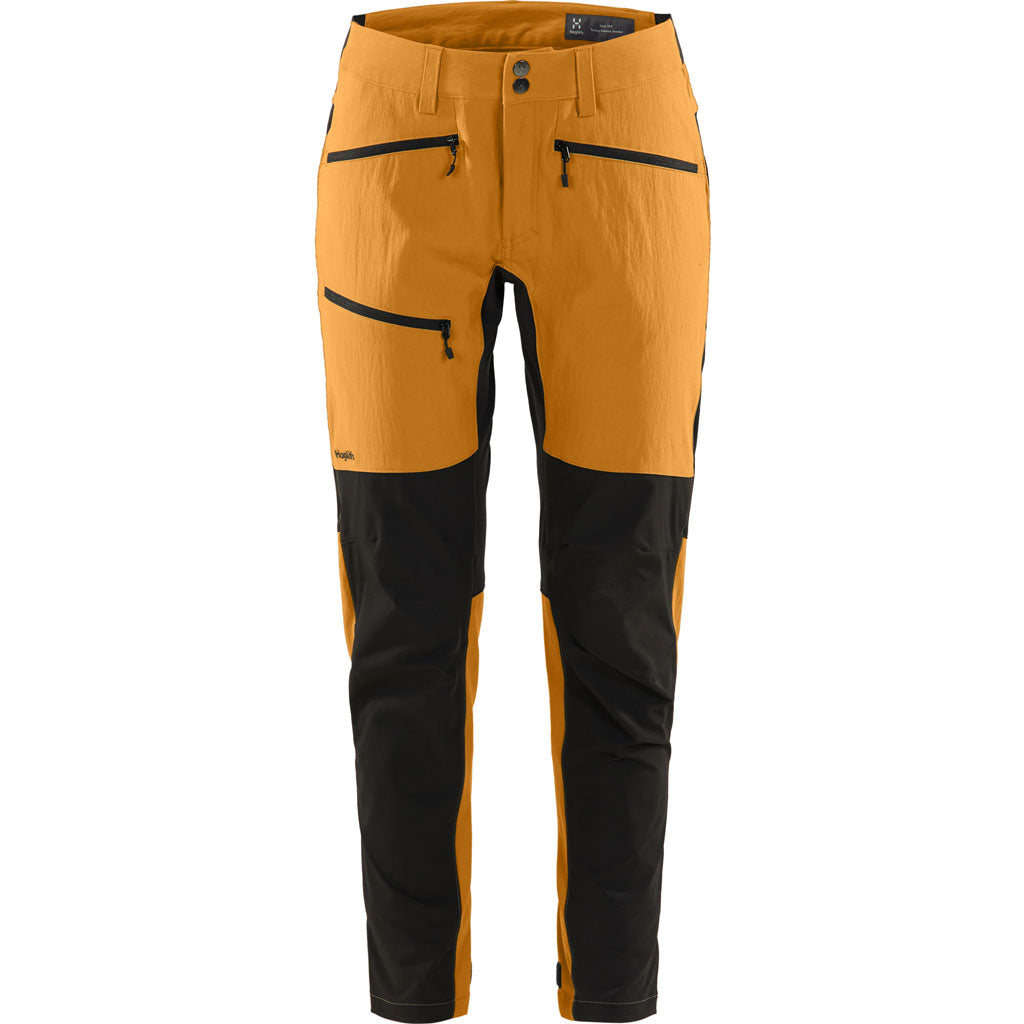 Haglofs Pants Women's Rugged Flex REGULAR Leg Trousers Desert Yellow/True Black