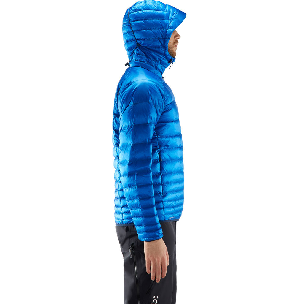 Haglofs INSULATED Jacket Men's Essens Down Hood Storm Blue/Tarn Blue