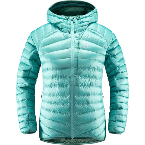 Haglofs INSULATED Jacket Women's Essens Down Hood Glacier Green/Willow Green