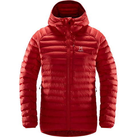 Haglofs INSULATED Jacket Women's Essens Mimic Hood Hibiscus Red/Brick Red