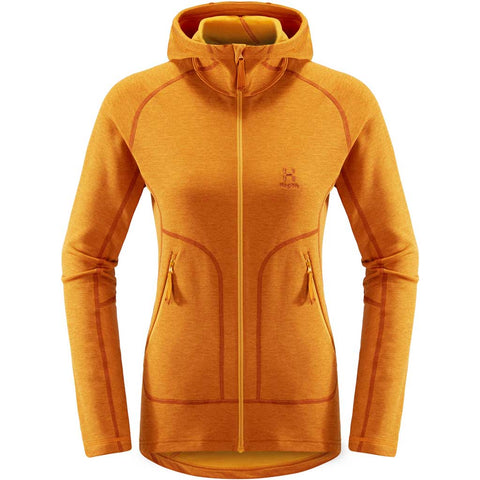 Haglofs FLEECE Jacket Women's Heron Hood Desert Yellow