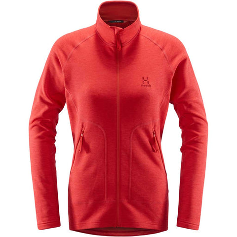 Haglofs FLEECE Jacket Women's Heron Hibiscus Red