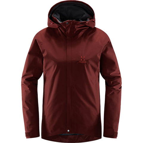 Haglofs INSULATED WATERPROOF Jacket Women's Stratus Maroon Red