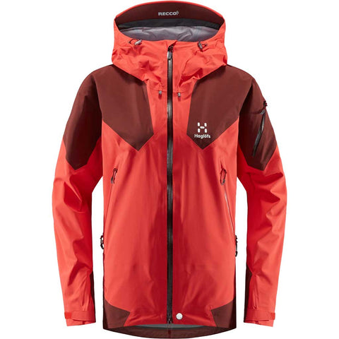 Haglofs WATERPROOF Jacket Women's Roc Spire Hibiscus Red/Maroon Red