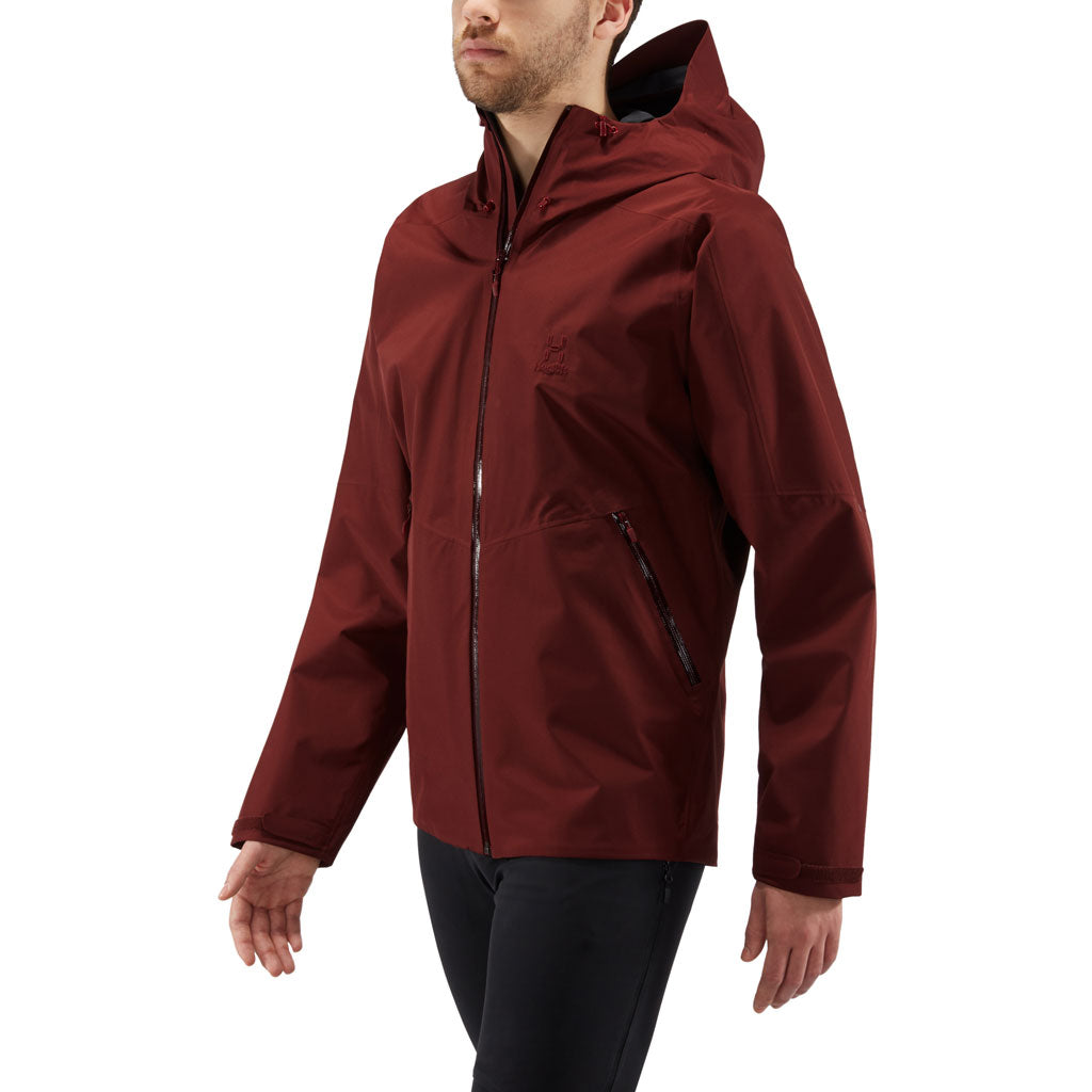 Haglofs WATERPROOF Jacket Men's Merak Maroon Red