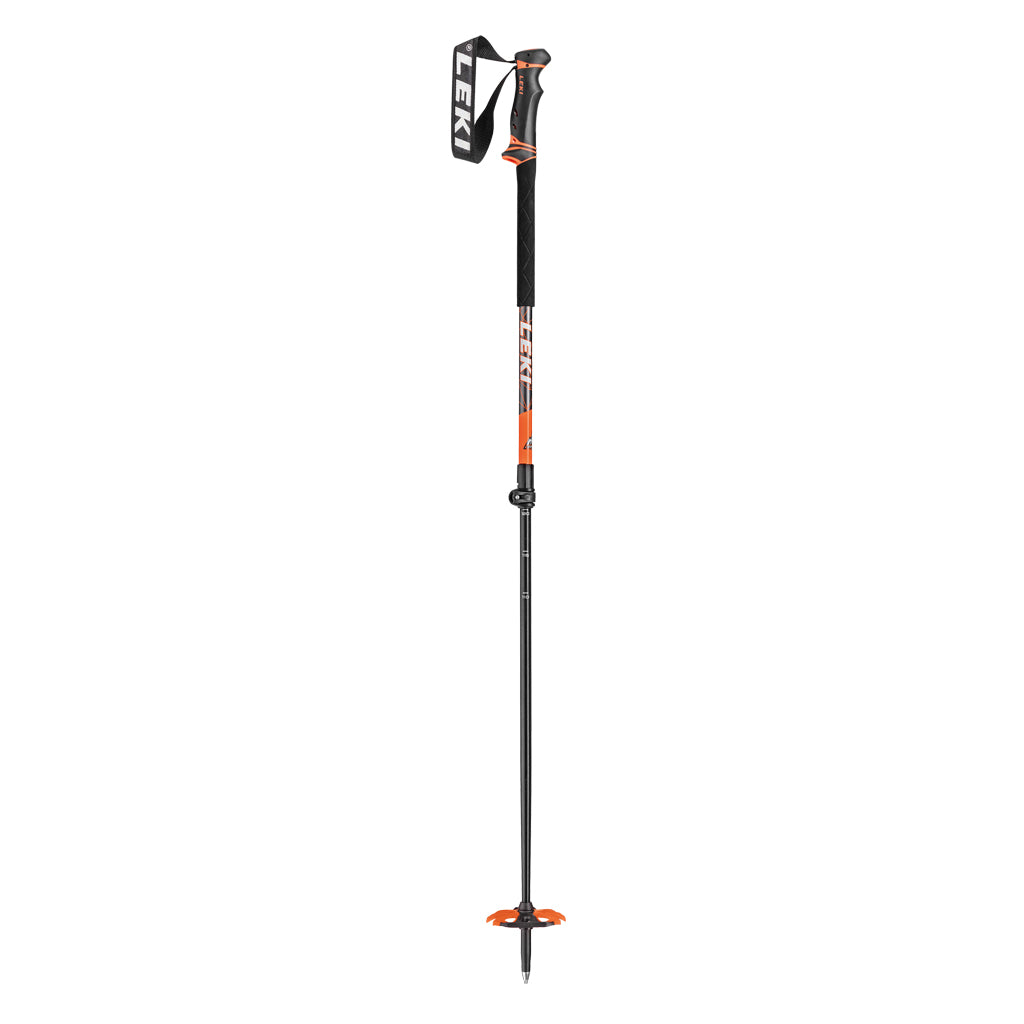 Leki SKI Poles Helicon Lite 110-145cm Anthracite White Neon Orange