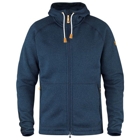Fjallraven Men's Övik Fleece Hoodie- Navy