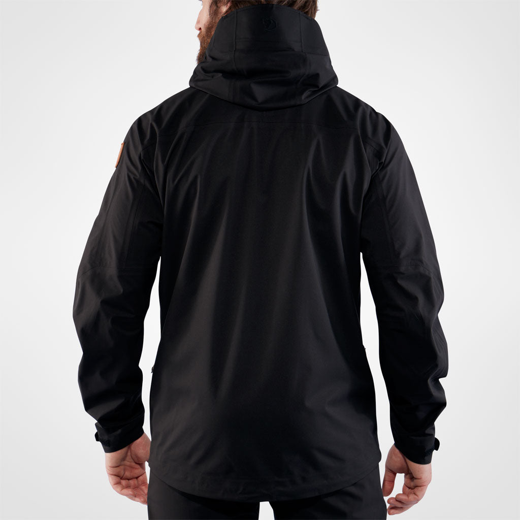 Fjall Raven WATERPROOF Jacket Men's Keb Eco-Shell Waterproof Black