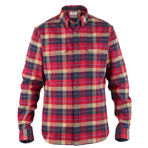 Fjall Raven Shirt Men's Singi Heavy Flannel Deep Red