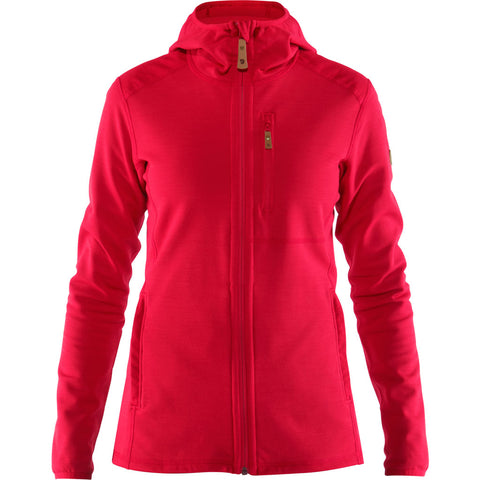 Fjall Raven FLEECE Jacket Women's Keb Hoodie Lava