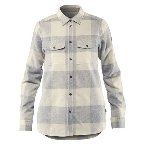 Fjallraven Women's Canada Long Sleeve Shirt- Fog/ Chalk White