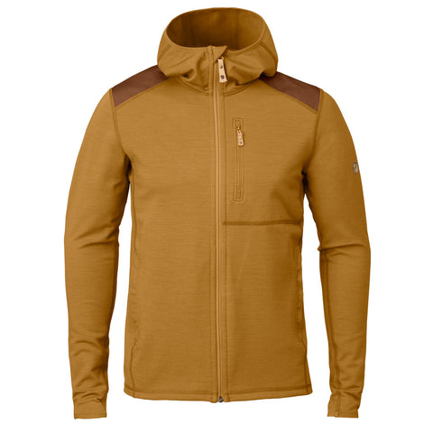 Fjall Raven FLEECE Jacket Men's Keb Hoodie Acorn/Chestnut
