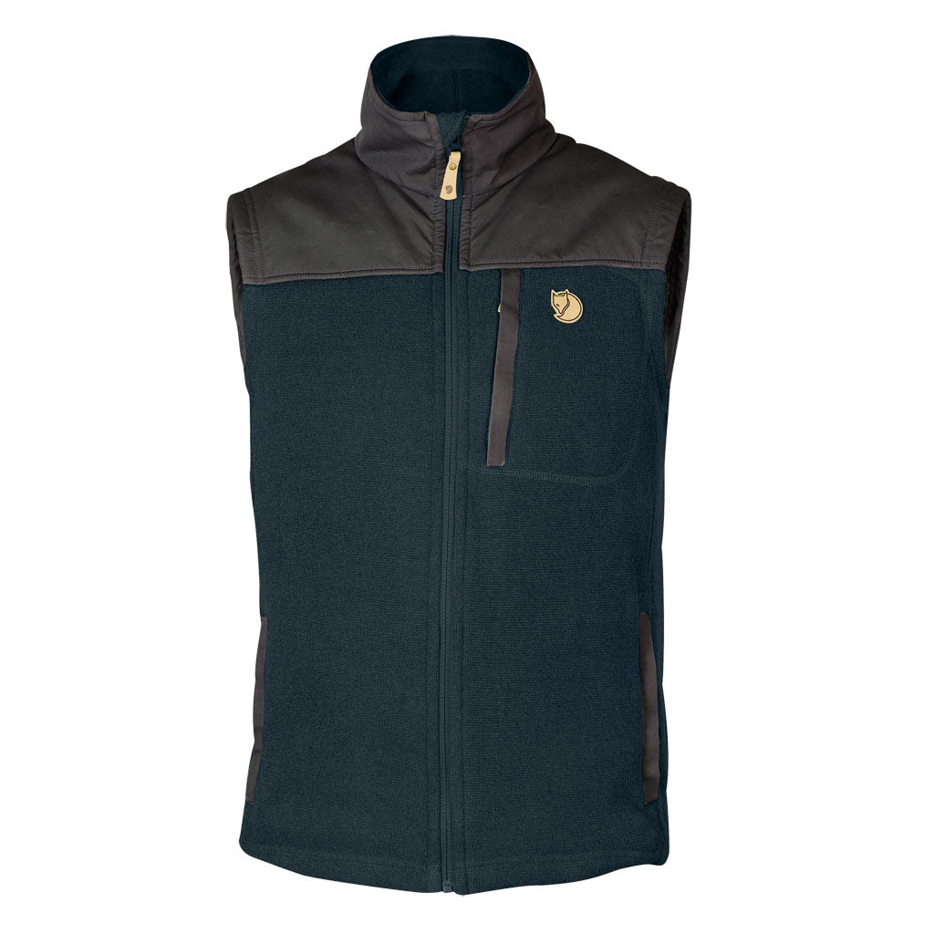 Fjall Raven FLEECE Top Men's Buck Vest Dark Navy
