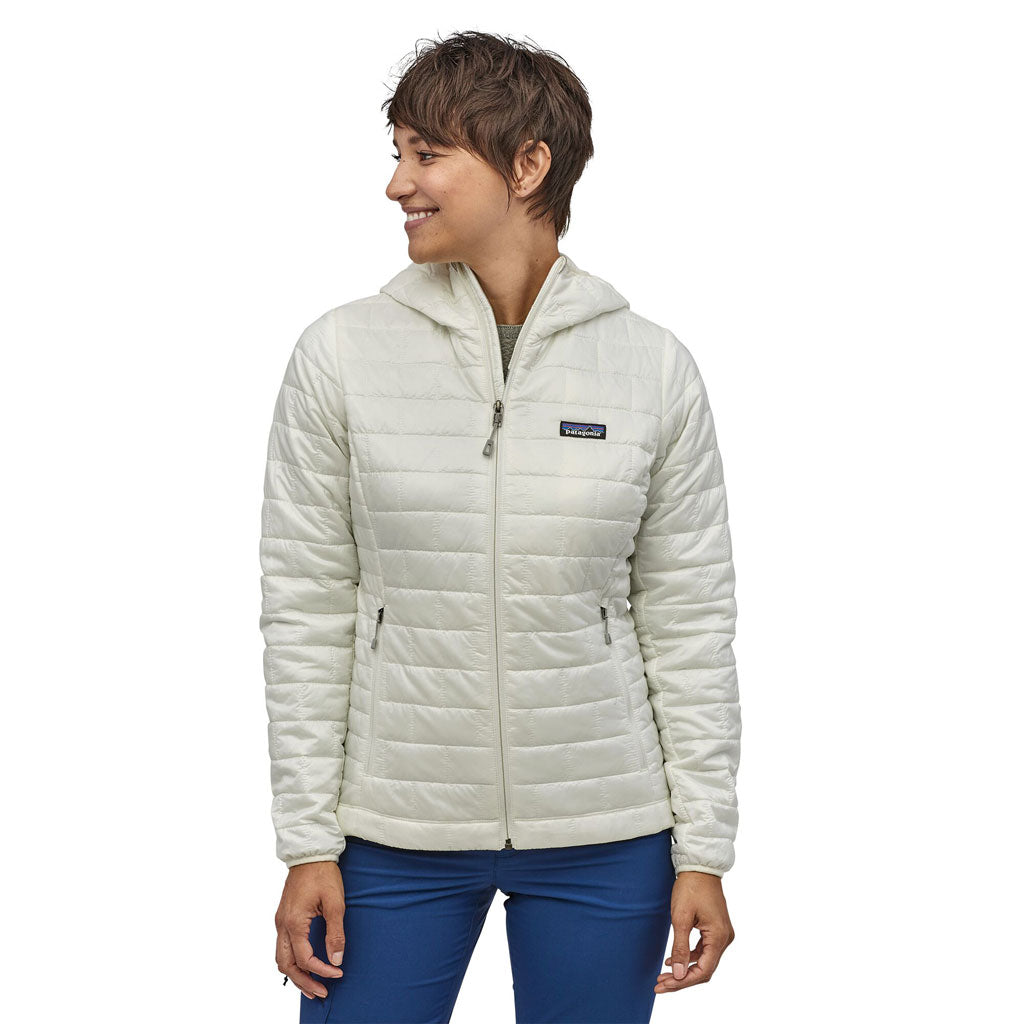Patagonia INSULATED Jacket Women's Nano Puff Hoody Birch White