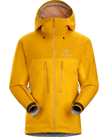 Men's Arc'teryx Alpha AR Waterproof Jacket - Gold