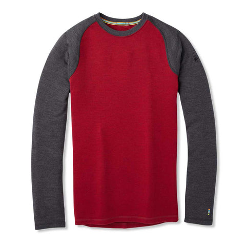 Smartwool BASE LAYER Top Men's Merino 250 Base Crew Tibetan Red/Charcoal