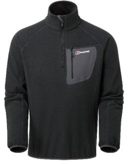 Men's Berghaus Kedron Half Zip Fleece - Black
