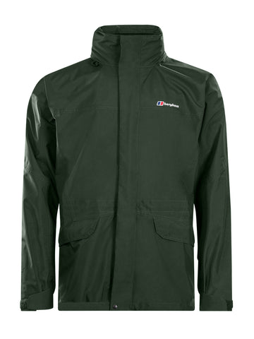 Men's Berghaus Long Cornice II Waterproof Jacket - Green