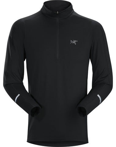 Arc'teryx Men's Cormac Zip Neck LS - Black