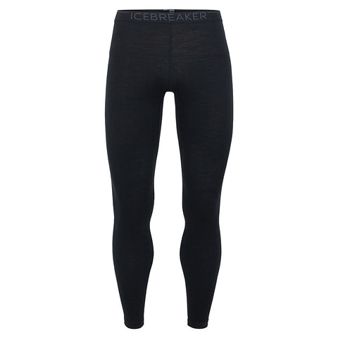 Icebreaker BASE LAYER Pants Men's 200 Oasis Leggings Black