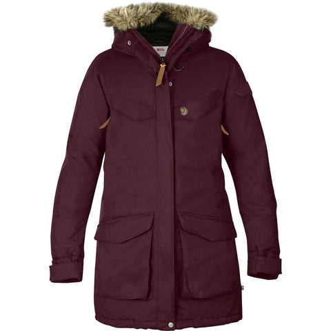 Fjall Raven INSULATED WATERPROOF Jacket Women's Nuuk Parka Dark Garnet