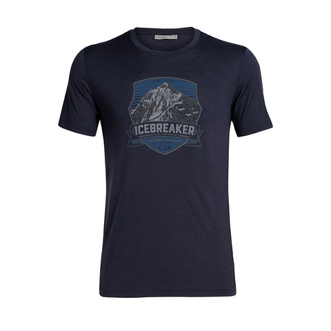 Icebreaker Top Men's Tech Lite SS Artist Tee Everest Crest Midnight