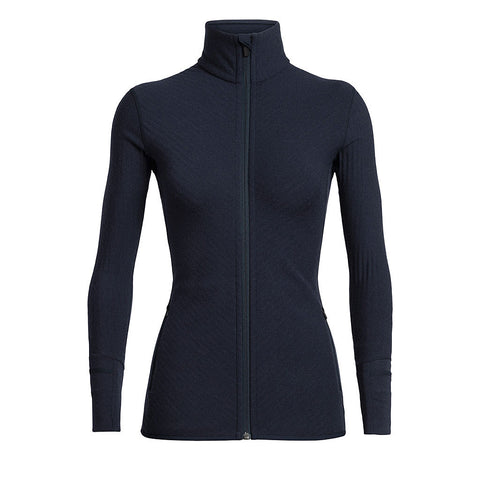 Icebreaker Jacket Women's Descender LS Zip Midnight Navy