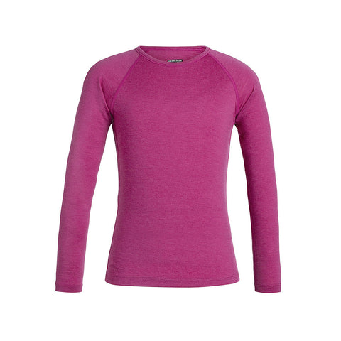 Icebreaker BASE LAYER Top Kid's Oasis LS Crewe Amore Heather